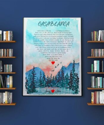 Personalized heart shape Lyrics song portrail canvas art, your loved song in canvas 5
