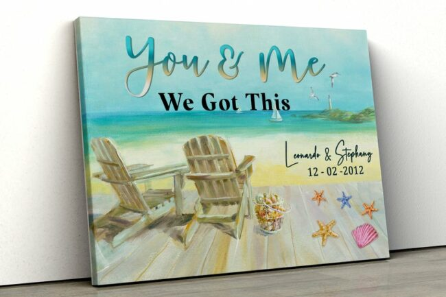 personailized love canvas for wife and husband Love couple canvas art, 2