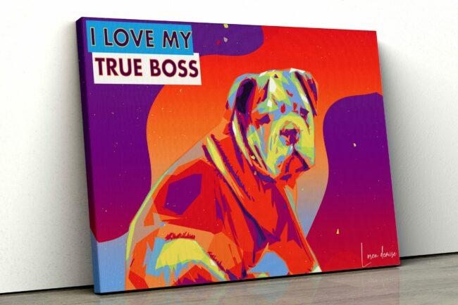 personalized pet canvas art, colorful pop art canvas, pet gift 1