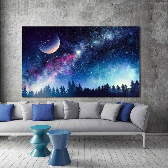 Colourful Night Canvas 1
