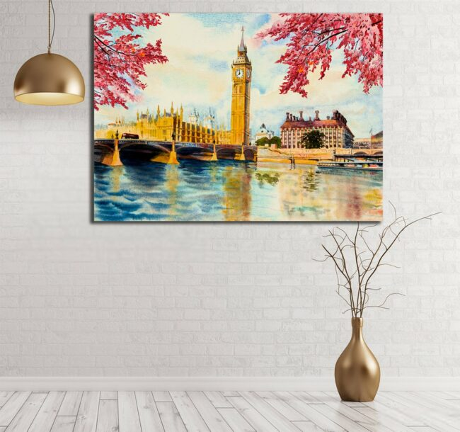 Beautiful Big Ben London Canvas, Oil painting, Canvas Art 1