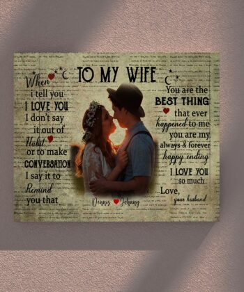 personalized wedding canvas, to my wife,  to my husband canvas art 9