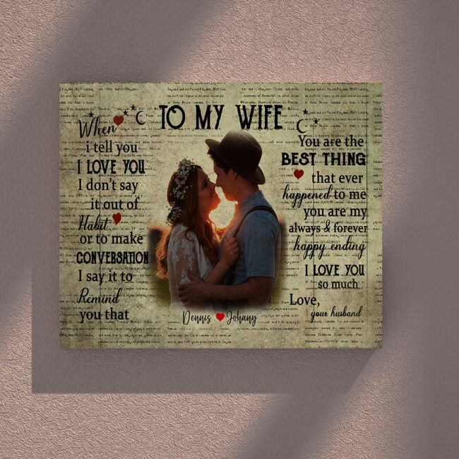 personalized wedding canvas, to my wife,  to my husband canvas art 4