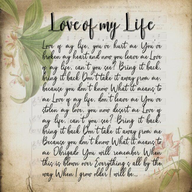Lyrics song canvas art, 3 pieces of canvas art lyrics vintage 4