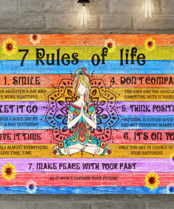 7 RULES OF LIFE Canvas art, beautiful quotes for happy life 7
