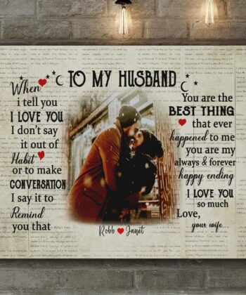 personalized wedding canvas, to my wife,  to my husband canvas art 10