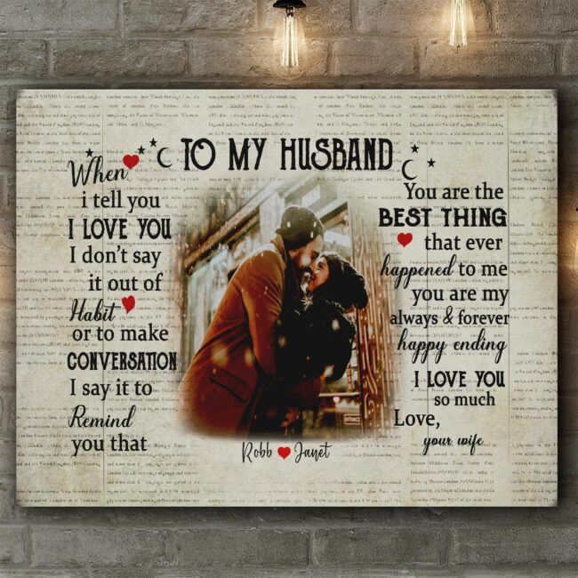 personalized wedding canvas, to my wife,  to my husband canvas art 5