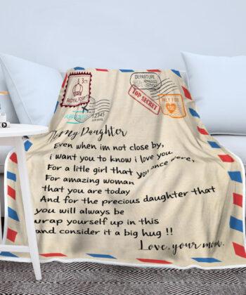 My daughter gift blanket, super comfortable fleece blanket 13