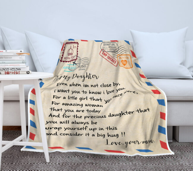 My daughter gift blanket, super comfortable fleece blanket 7