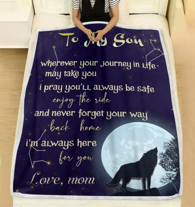 Son gift blanket, this is the most warm lovely gift for your son 2