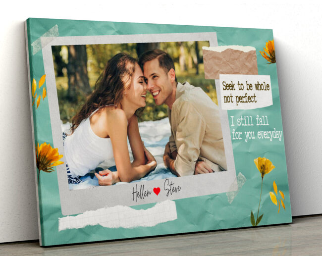 personalized couple canvas art, love gift 2