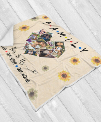 family fleece blanket, this is us, our love, our life, our story 5