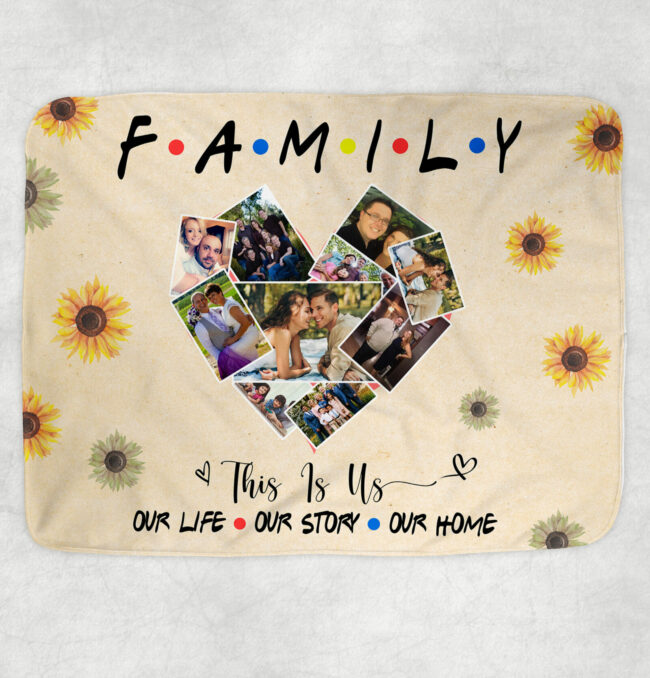 family fleece blanket, this is us, our love, our life, our story 1