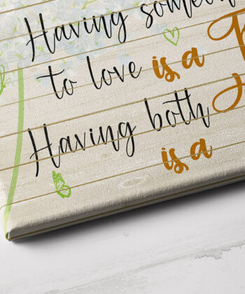 Family love canvas framed wall art, Having somewhere to go is a home, having someone to love is a family 7