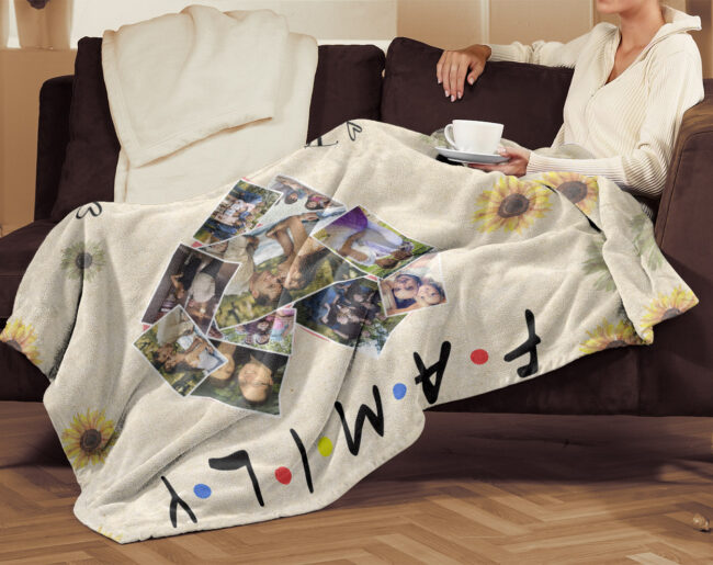 family fleece blanket, this is us, our love, our life, our story 3
