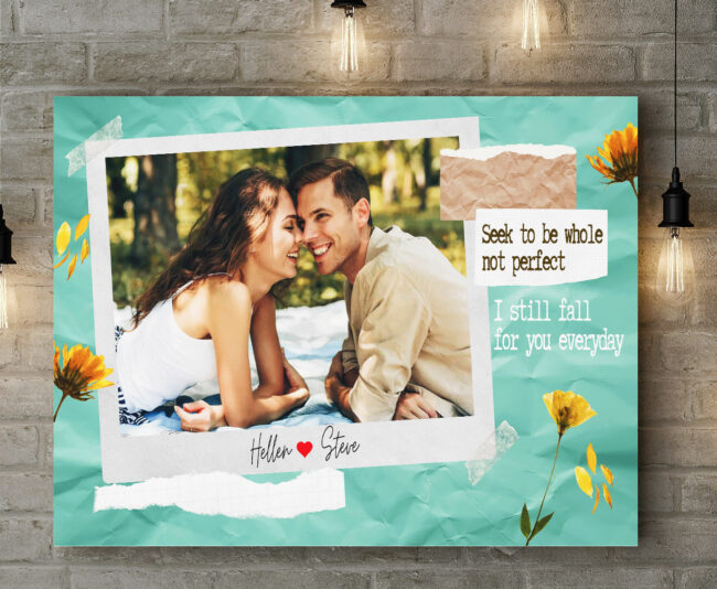 personalized couple canvas art, love gift 6