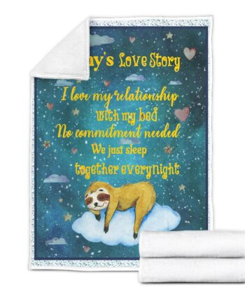 Personalized Valentine gift funny sloth blanket for her, for daughter for besties... 9