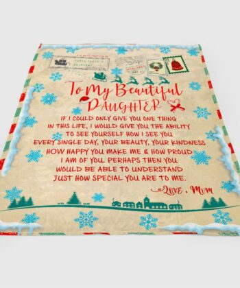 To my daughter Christmas blanket, for daughter fleece blanket from mom gift 6