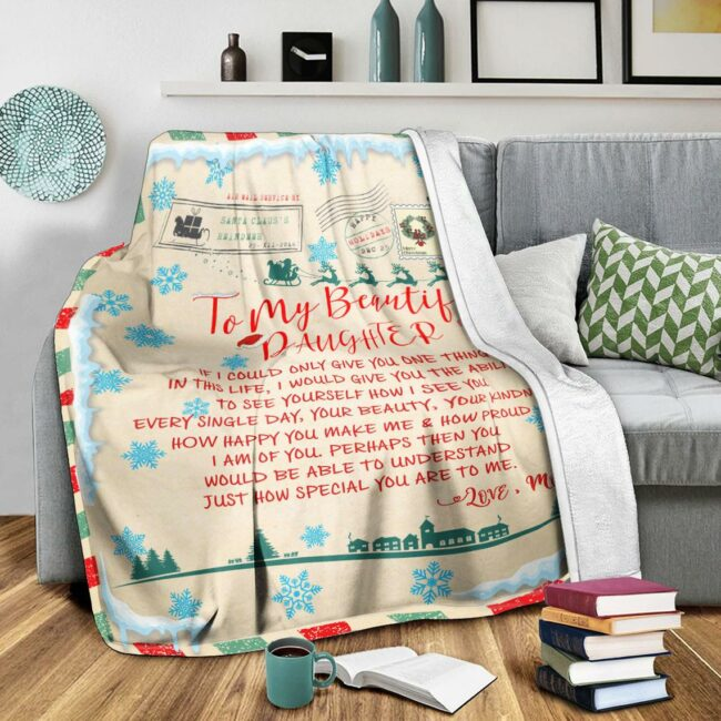 To my daughter Christmas blanket, for daughter fleece blanket from mom gift 3