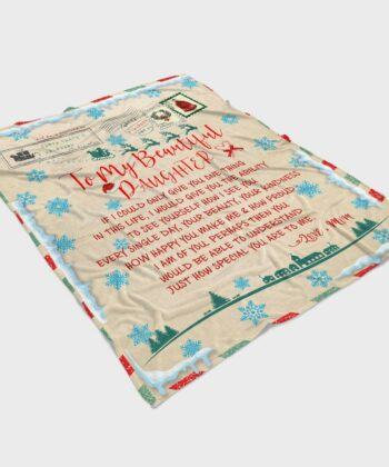 To my daughter Christmas blanket, for daughter fleece blanket from mom gift 8
