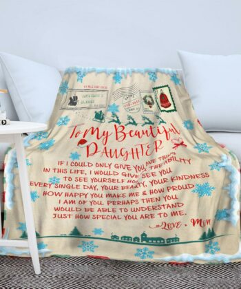 To my daughter Christmas blanket, for daughter fleece blanket from mom gift 9