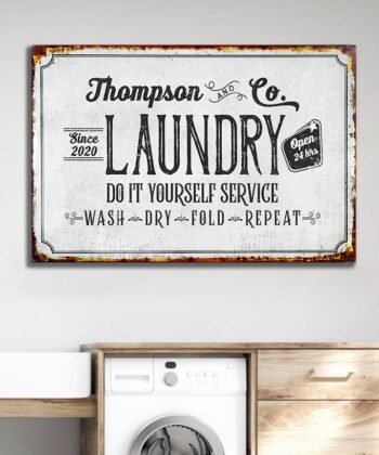 Personalized laundry room canvas art, Do it yourself service laundry room canvas 5
