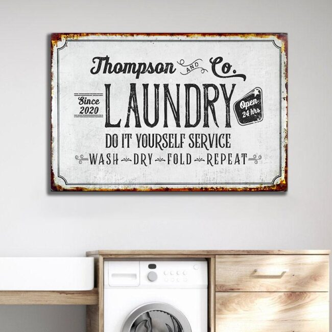 Personalized laundry room canvas art, Do it yourself service laundry room canvas 2
