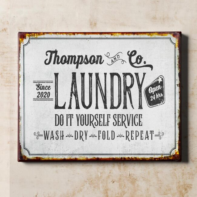 Personalized laundry room canvas art, Do it yourself service laundry room canvas 1