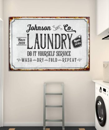 Personalized laundry room canvas art, Do it yourself service laundry room canvas 6