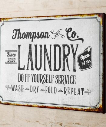 Personalized laundry room canvas art, Do it yourself service laundry room canvas 7
