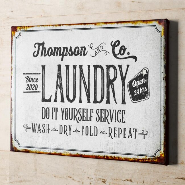 Personalized laundry room canvas art, Do it yourself service laundry room canvas 4