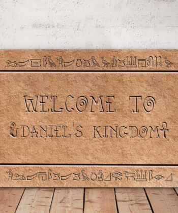 Egyptian style home sign canvas art 6