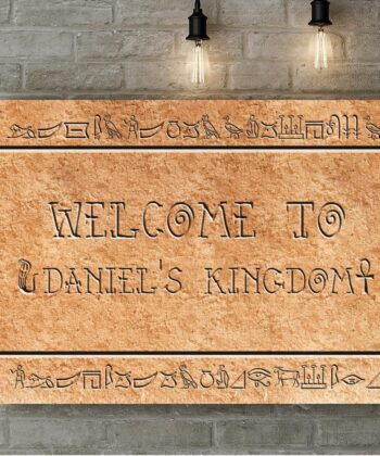 Egyptian style home sign canvas art 8