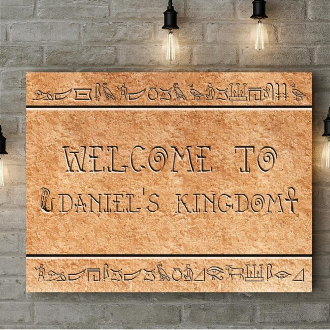 Egyptian style home sign canvas art 4