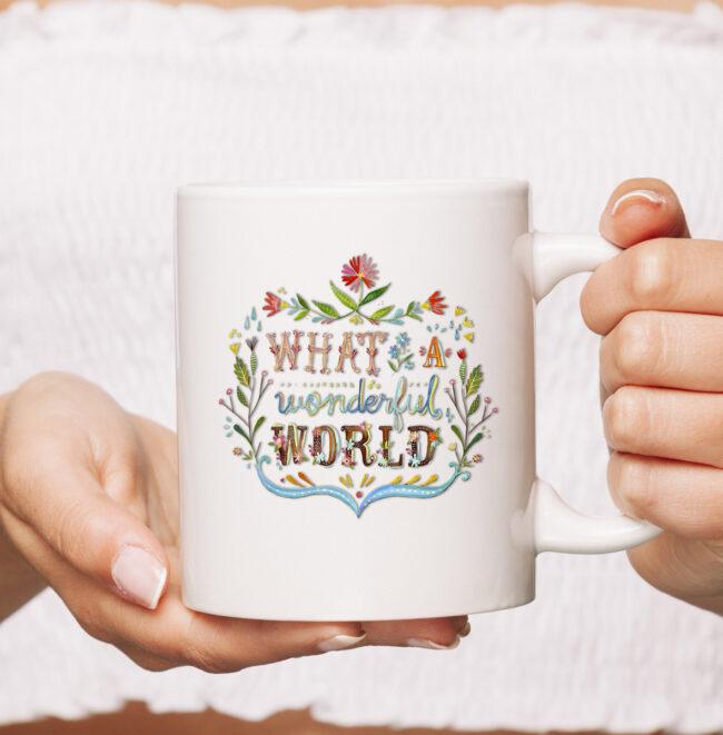 What A Wonderful World | Hippie lifestyle mug. 1