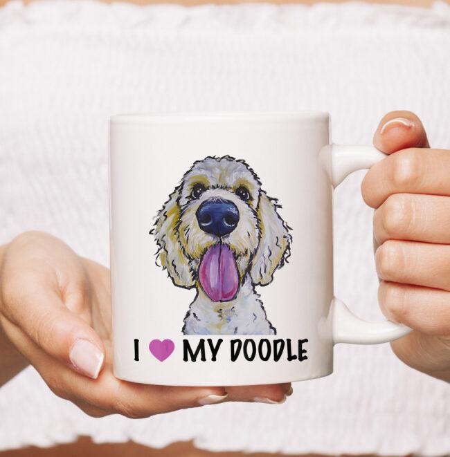 I Love My Doodle mug, Golden Doodle mug 1