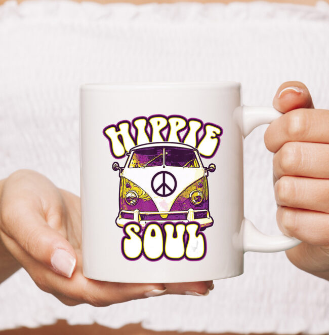 Hippie Soul Car Hippies Peace Vintage Retro Hippy Gift mug 1