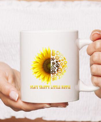 Stay Trippy Little Hippie CoffeeMug | 70s Hippie White mug Mug 4
