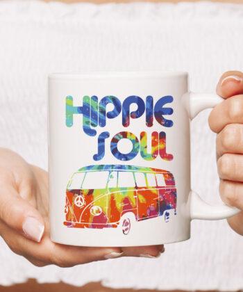 Hippie Soul Van Bus Vintage Retro Tie Dye Psychedelic Hippy Mug 4