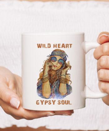 Wild Heart Hippie Girl Gypsy Soul For Hippie Style Mug 4