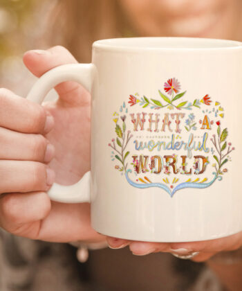 What A Wonderful World | Hippie lifestyle mug. 4