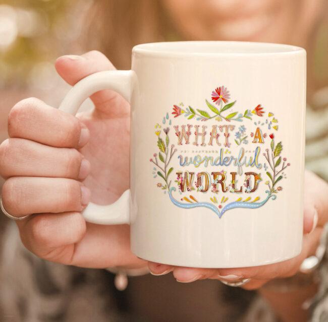 What A Wonderful World | Hippie lifestyle mug. 2