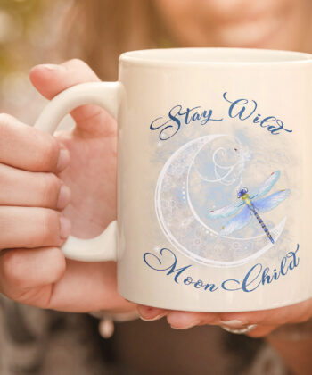 Stay Wild Moon Child-Dragonfly Hippie Gift mug 4