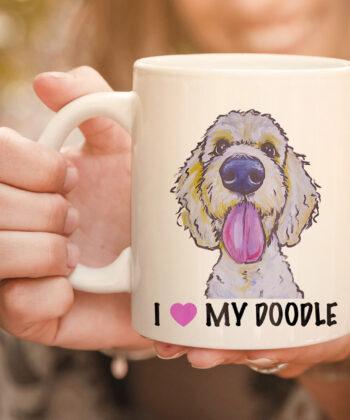I Love My Doodle mug, Golden Doodle mug 4