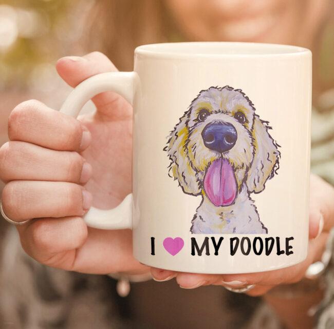 I Love My Doodle mug, Golden Doodle mug 2