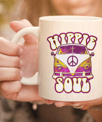 Hippie Soul Car Hippies Peace Vintage Retro Hippy Gift mug 4