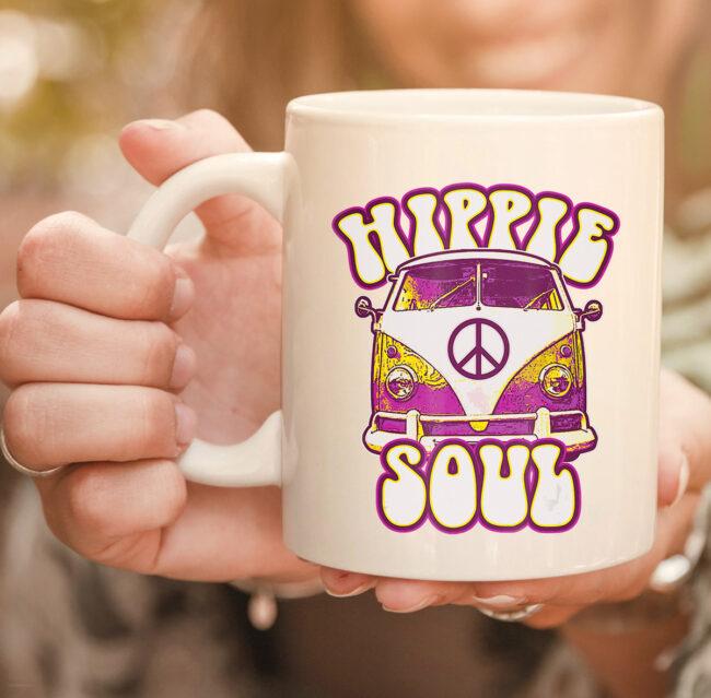 Hippie Soul Car Hippies Peace Vintage Retro Hippy Gift mug 2