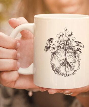 Funny Mycologist Mushroom Lover Gift Mycology Hippie Peace Premium mug 4