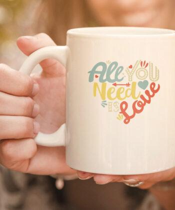 All You Need is Love Valentines Day mug Women Girls Heart mug 4