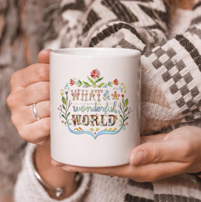 What A Wonderful World | Hippie lifestyle mug. 3